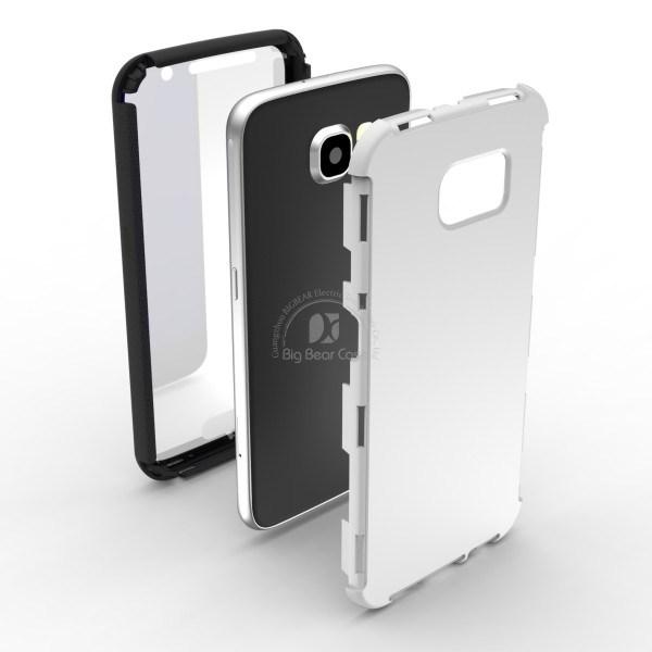 cas accessoire de t l phone portable de protection de t l phone plein pour la galaxie s6 g9200. Black Bedroom Furniture Sets. Home Design Ideas