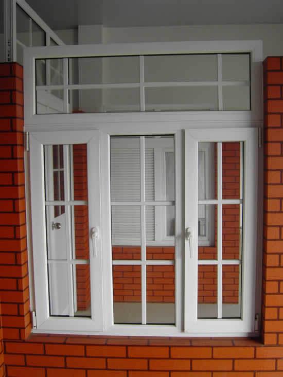 Finestra della stoffa per tendine con il vetro di vetratura doppia cw 022 finestra della - Tendine vetro finestra ...
