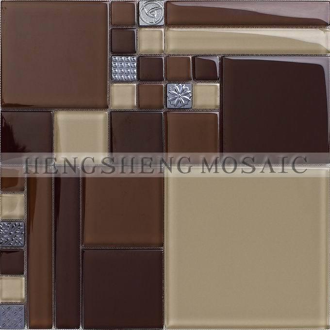De bruine tegels van het moza ek van het glas hdx 03 for Bruine tegels