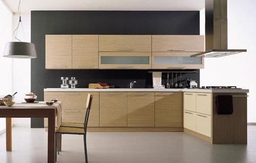 Cabinet de cuisine en bois stratifi par m lamine de for Panneau de particule stratifie