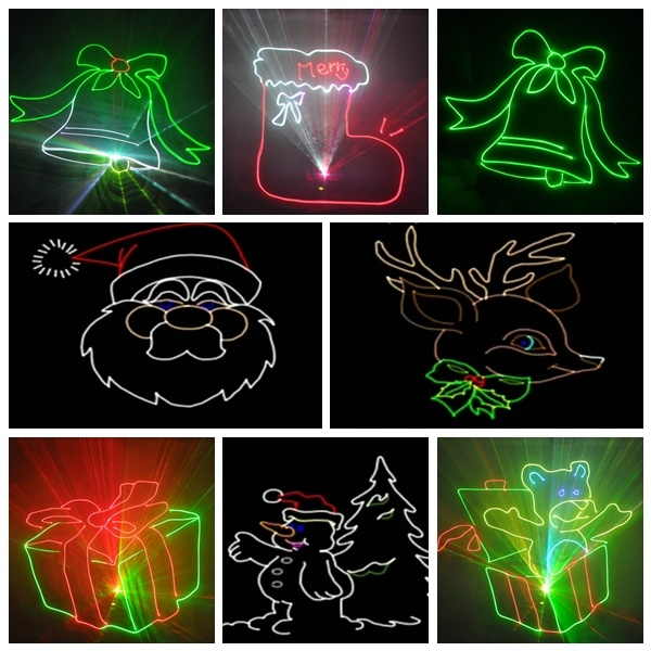 Decoration de noel exterieur laser for Projecteur exterieur noel