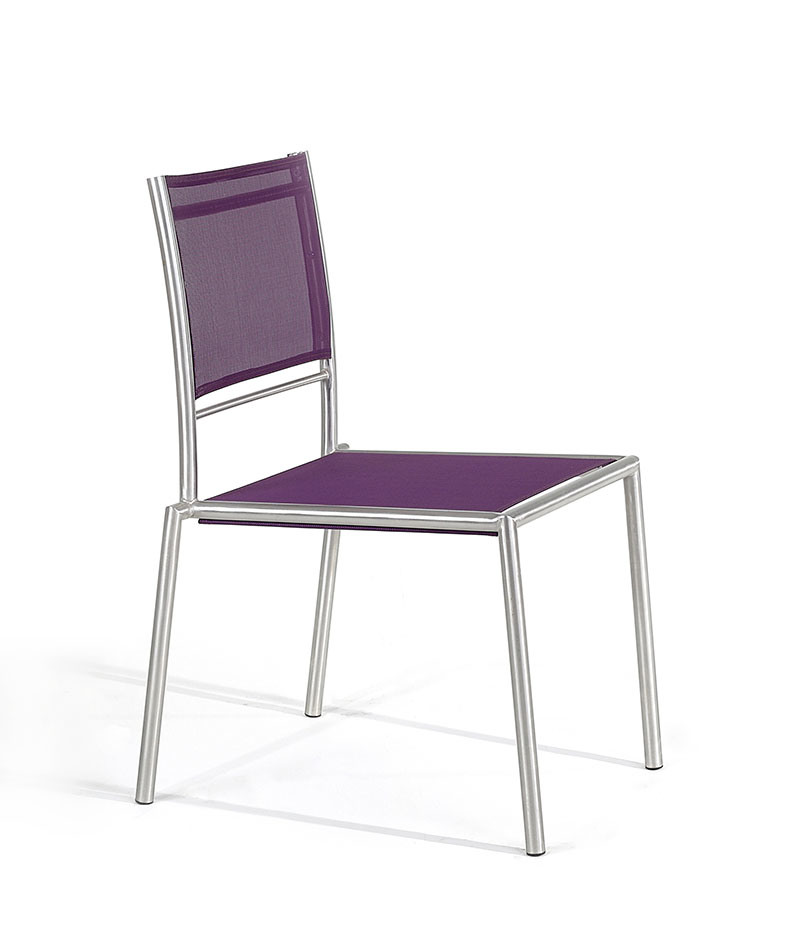 Exterior sillas de acero inoxidable bz cn002 exterior for Sillas para exterior
