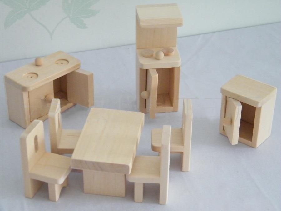 de maderamini muebles (HSGT095) – Juguetes de maderamini muebles