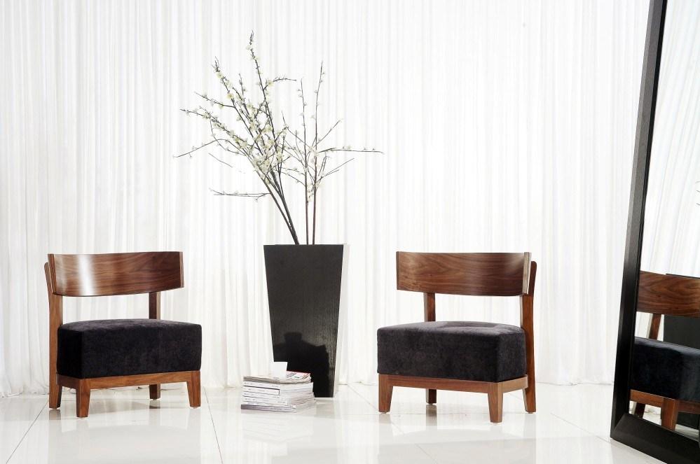 El estilo moderno de europa de madera tela relaja la for Sillas estilo moderno