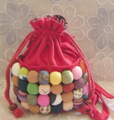 Bolso hecho a mano chino del cosm tico de la tela del arte popular bolso hecho a mano chino - Bolsos de tela hechos en casa ...