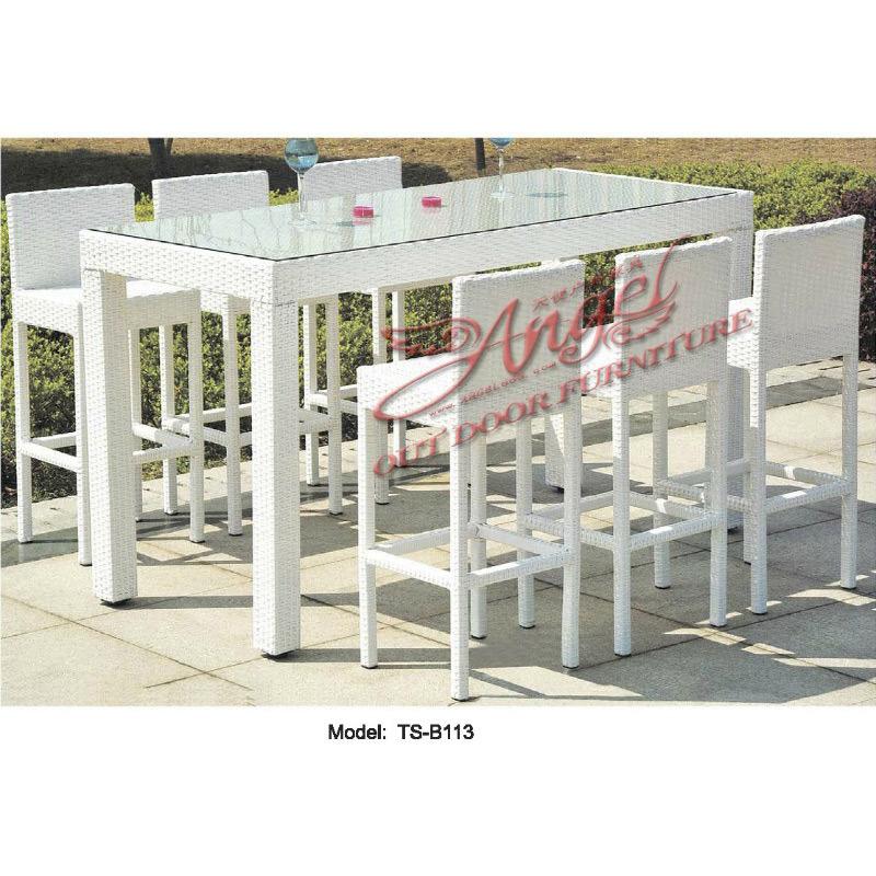 verarbeitung rattan patio freizeit garten gastronomie moderne bar tisch stuhl f r outdoor foto. Black Bedroom Furniture Sets. Home Design Ideas