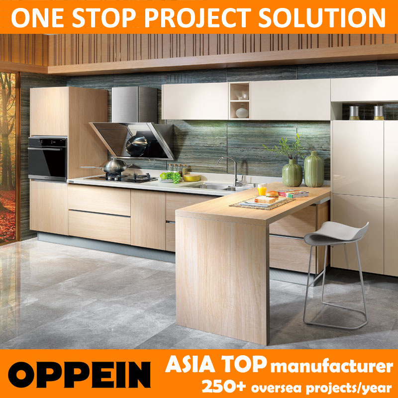 Cabinets de cuisine modulaires de cerise d 39 oppein de forme for Cuisine forme u