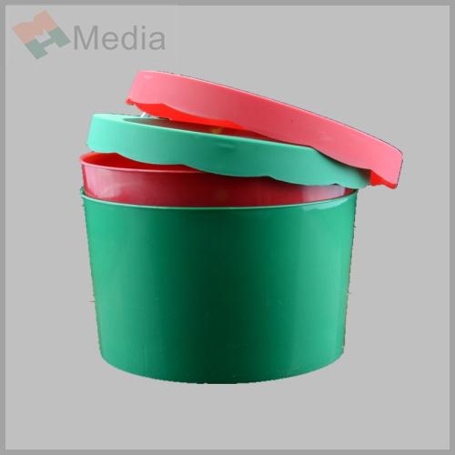 De plastic ronde doos van het deksel van de opslag met stevige kleur m 030 de plastic ronde - Deksel van de boom ...