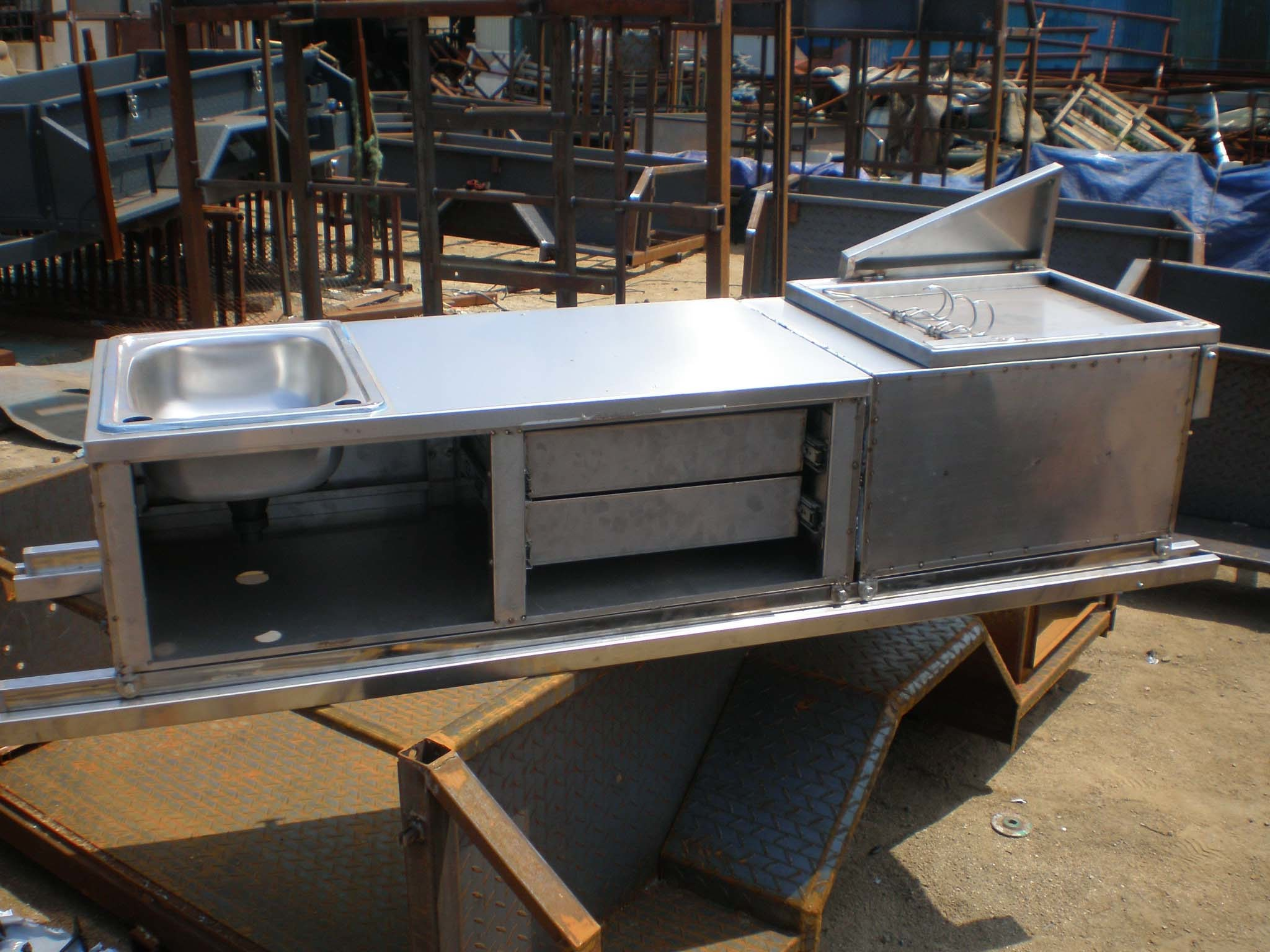 Diy Hard Floor Camper Trailer Plans Cozinha De Acampamento Inoxid 225 Vel Sk09 Do Reboque Cozinha