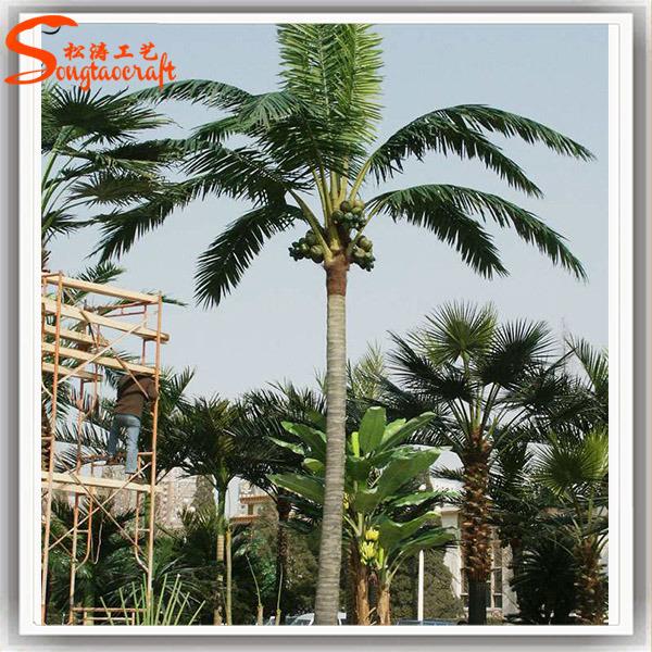 Arbre de noix de coco artificiel feuilles persistantes pour la d coration la maison photo - Arbre noix de coco ...