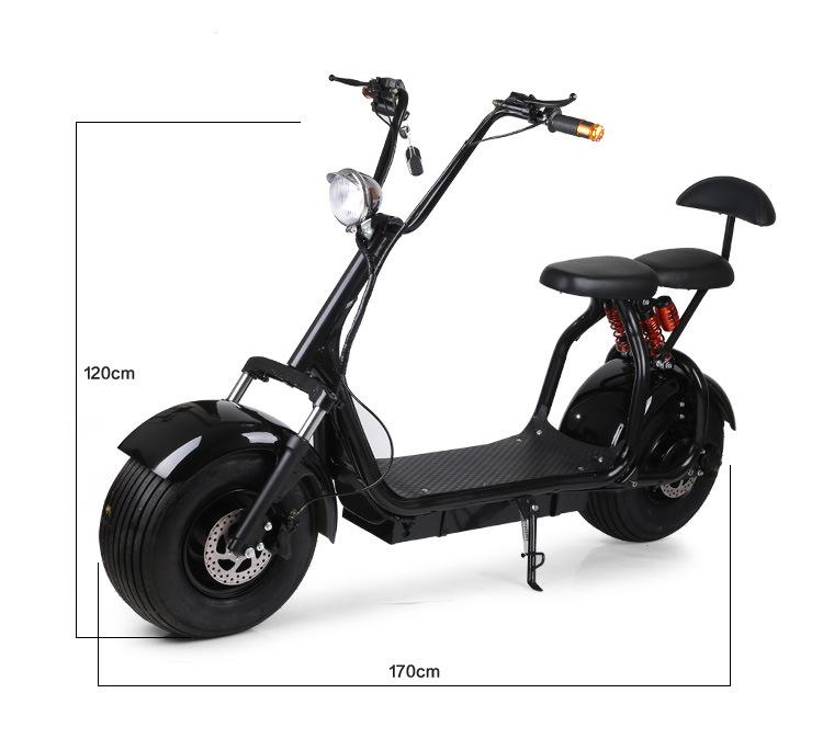 grand scooter de citycoco de pneu de 18 pouces avec le moteur 1000w sans frottoir grand scooter. Black Bedroom Furniture Sets. Home Design Ideas