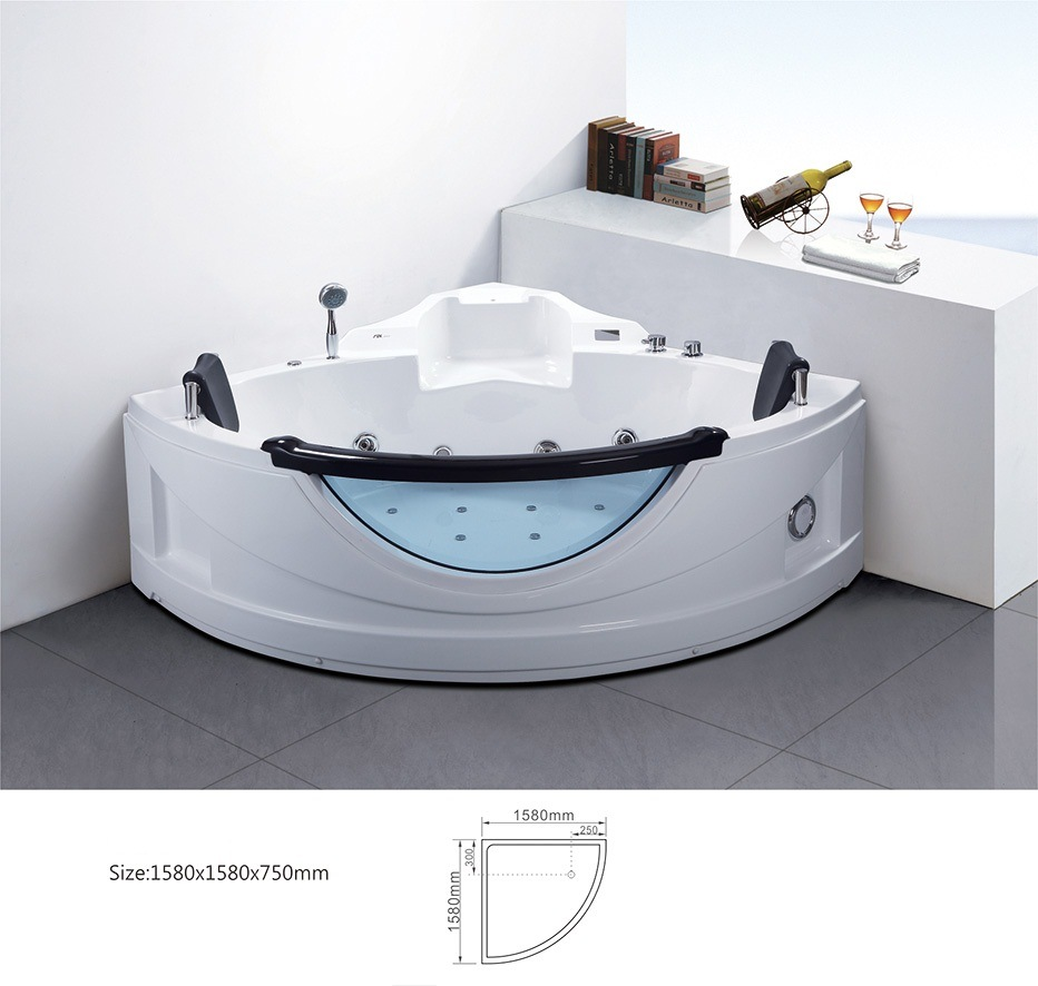 baignoire faisante le coin transparente moderne de jacuzzi. Black Bedroom Furniture Sets. Home Design Ideas