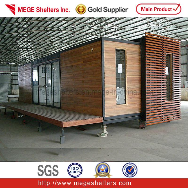 40ft conteneur maisons avec bardage en bois d coration for Conteneur maison bois