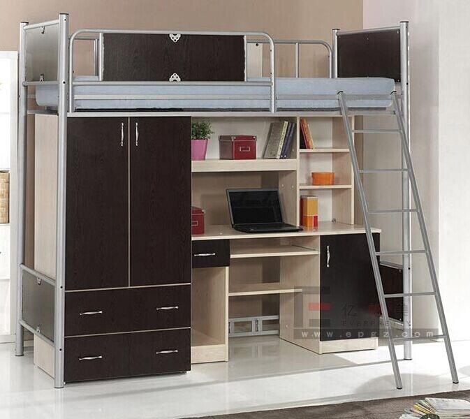 Lit moderne de double couche pour le dortoir de l 39 internat - Literas con escritorio debajo ...
