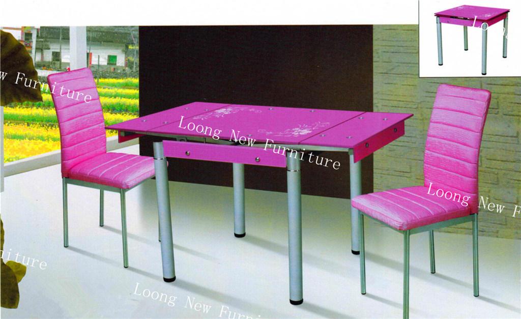 Extensible mesa de comedor mesa de vidrio mesa plegable for Mesa de vidrio extensible