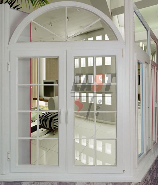 Finestra orientale di upvc con la serie della stoffa per tendine finestra orientale di upvc - Finestre stile americano ...