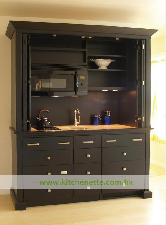 kitchenette en bois r elle de construction avec la porte de pliage pour l 39 h tel wh d019 photo. Black Bedroom Furniture Sets. Home Design Ideas
