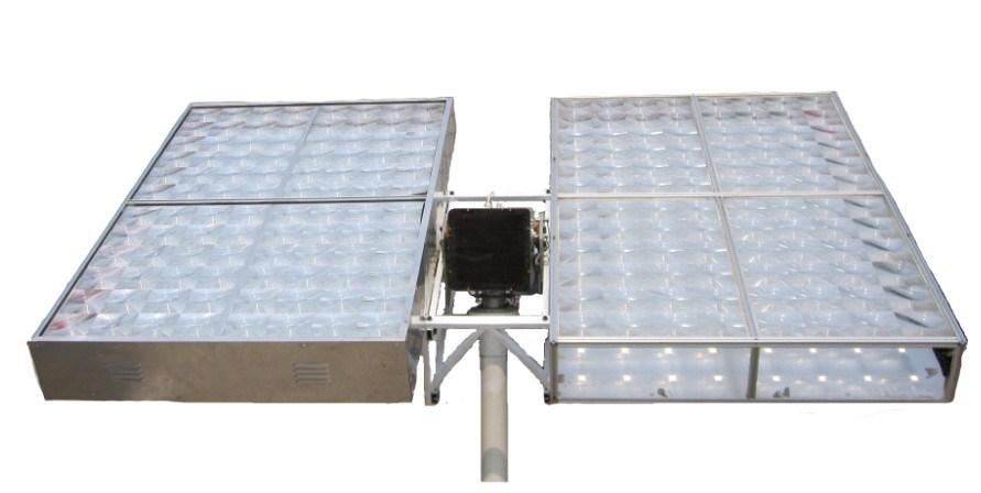 traqueur solaire lentilles de fresnel et syst me de piste solaire pour le syst me de hcpv. Black Bedroom Furniture Sets. Home Design Ideas