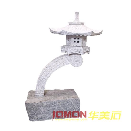Lanterne japonaise en pierre de rankei de granit xmj gl08 for Lampe japonaise exterieur