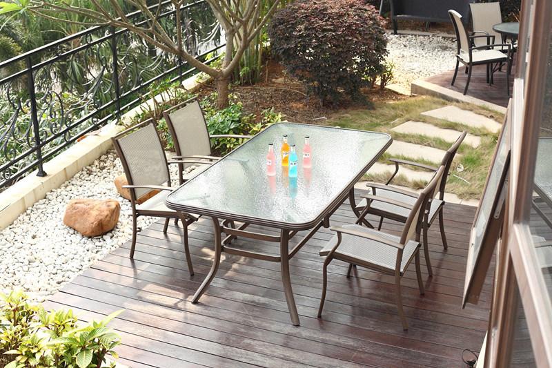 Textilene agradable que cenaba sillas y el jard n al aire for Diseno de muebles de jardin al aire libre