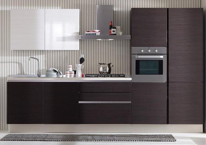 Placage en bois cabinet de cuisine en bois de grain for Placage cuisine