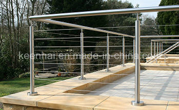 Balustre ext rieur de balustrade de balcon d 39 acier for Balustrade acier exterieur