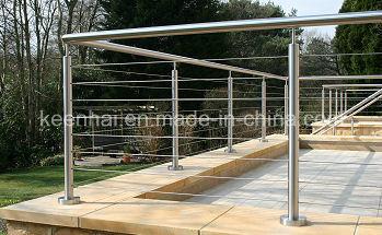 Balustre ext rieur de balustrade de balcon d 39 acier inoxydable photo sur f - Balustrade acier exterieur ...