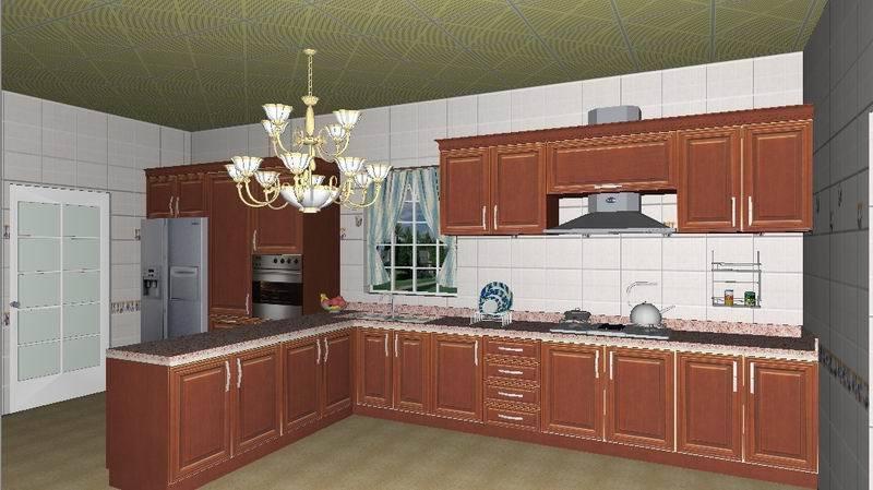 Gabinete de cocina moderno wj k012 gabinete de cocina for Gabinetes de cocina de madera modernos