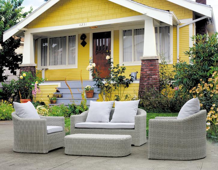 Jard n patio mimbre rattan muebles de exterior gs1010 for Muebles de rattan para exterior