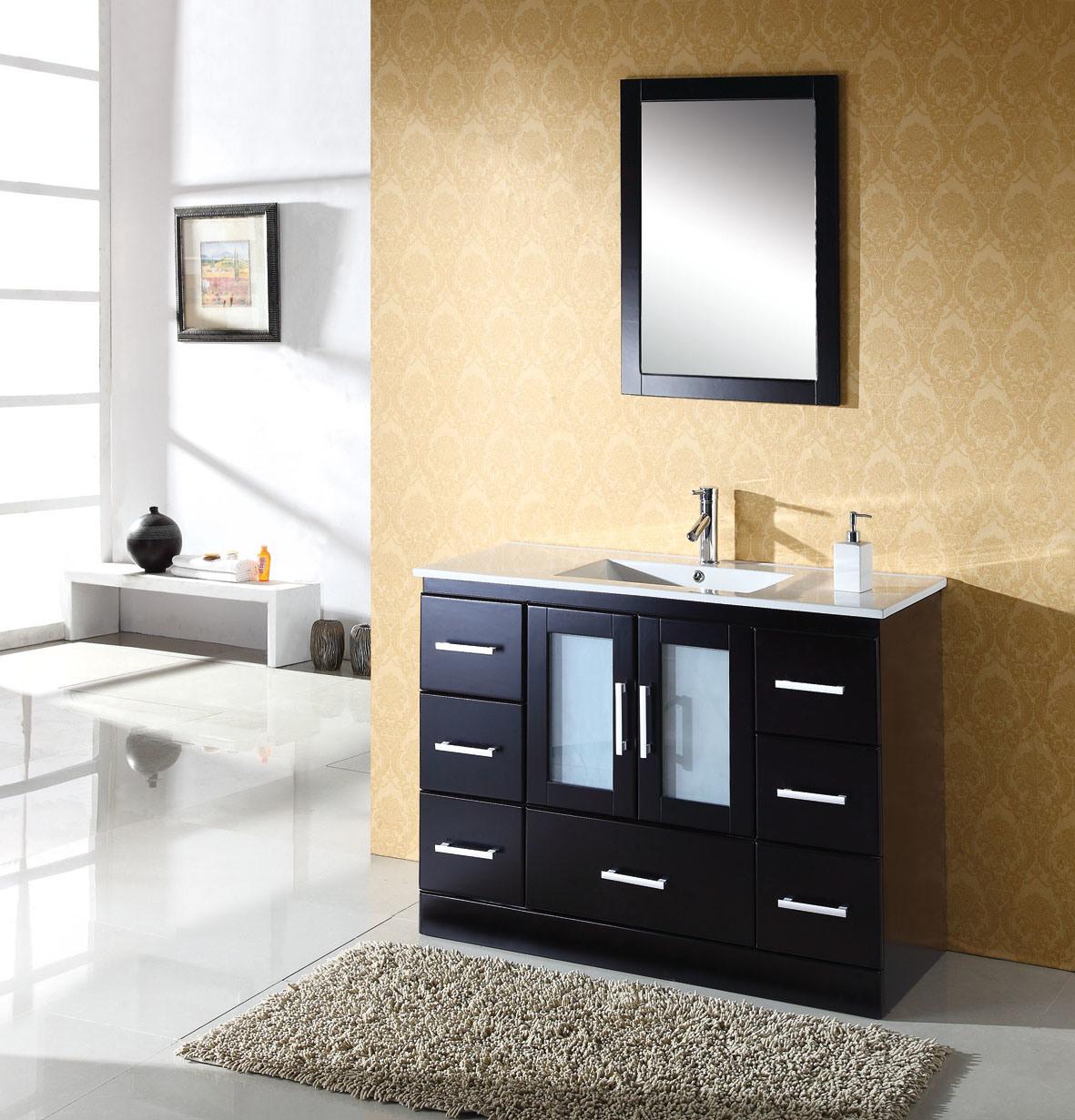 Gabinetes De Baño De Madera:Muebles del cuarto de baño de madera sólida – gabinete de la vanidad