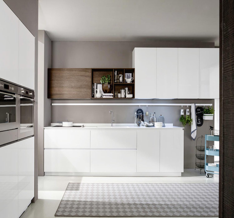 Module de cuisine moderne blanc de laque de type de doublure photo ...