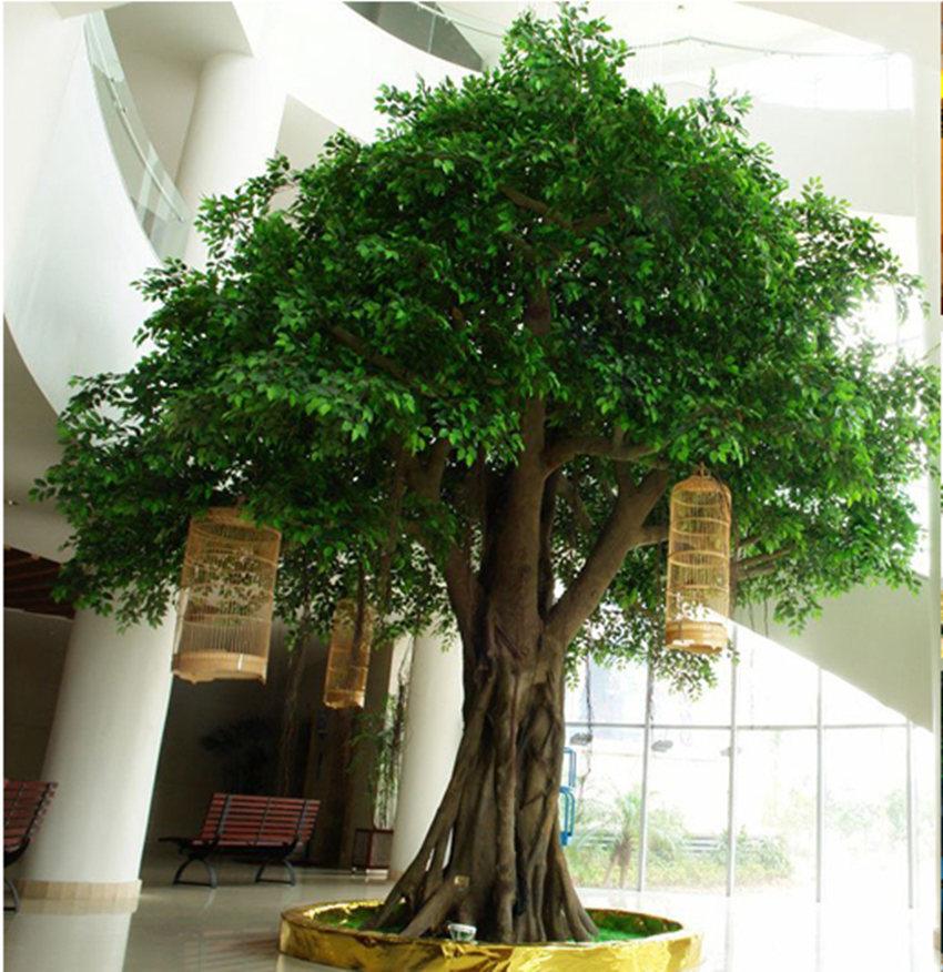 arbre artificiel de la fibre de verre ficus banyan d. Black Bedroom Furniture Sets. Home Design Ideas