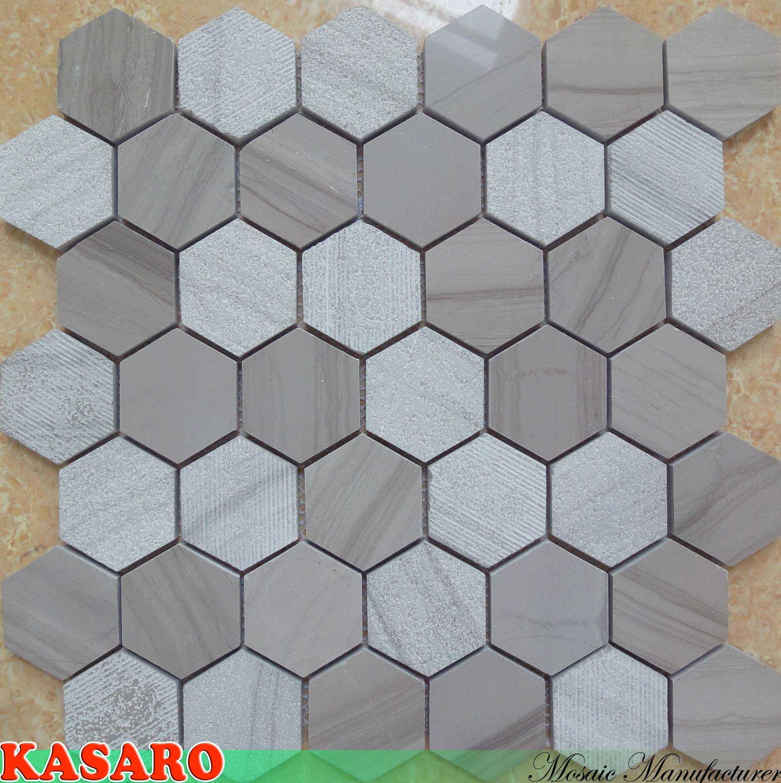 육각형 자연적인 대리석 모자이크 (KSL8231) – 육각형 자연적인 ...