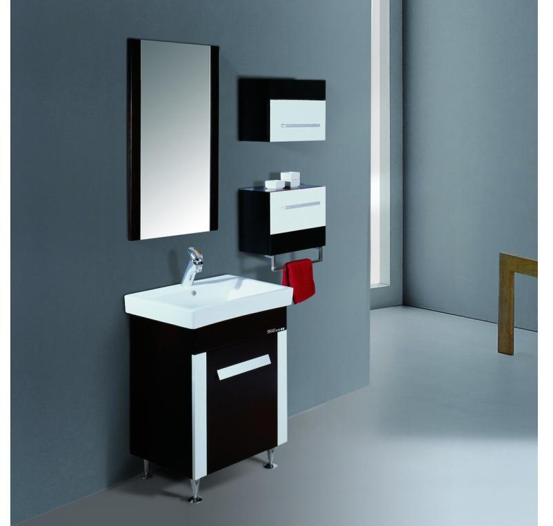Vanit de salle de bains vanit en bois plein cabinet de for Cabinet pour salle de bain