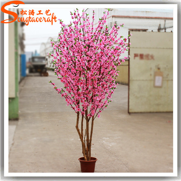 Arbre faux artificiel d 39 int rieur de fleur de cerise de for Arbres artificiels interieur