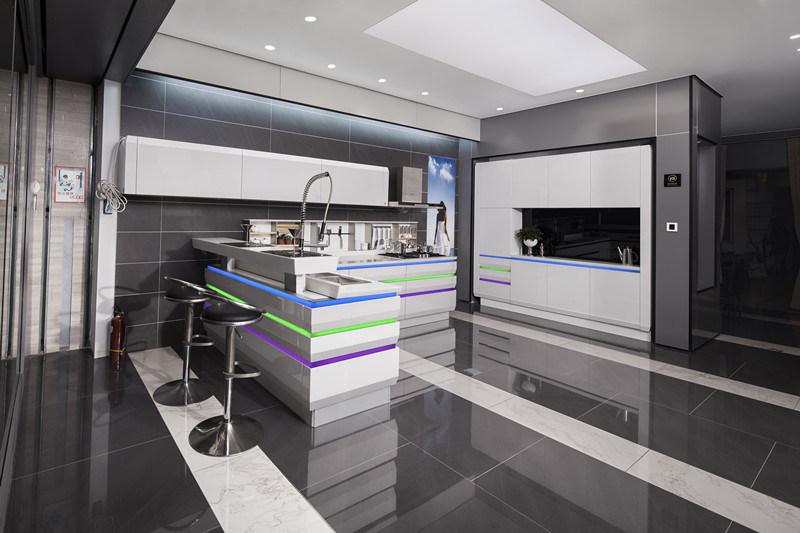 Mod le de luxe de cuisine de laque de lustre de meubles de for Modele de lustre pour cuisine