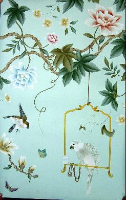 Carta da parati di seta dipinta a mano – Carta da parati di seta ...
