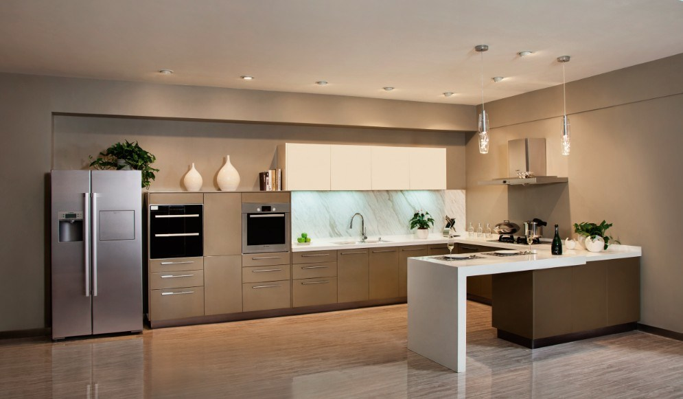 armario moderno de la cocina de la laca de la hornada impresi n de champ n v lc003 armario. Black Bedroom Furniture Sets. Home Design Ideas