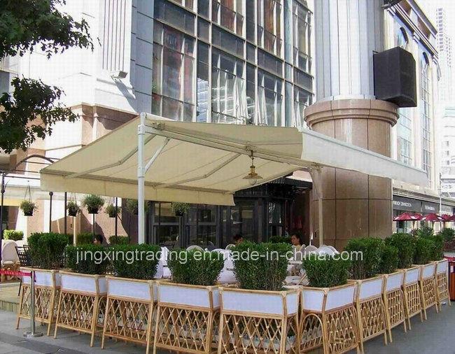 Durable doble exterior canopy toldo retr ctil parasol para for Proveedor de toldos