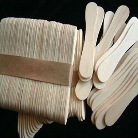 Palillos de madera de la paleta del helado de la f brica for Paletas madera