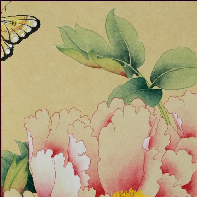 Papel pintado no tejido del estilo oriental hecho a mano for Papel pintado oriental