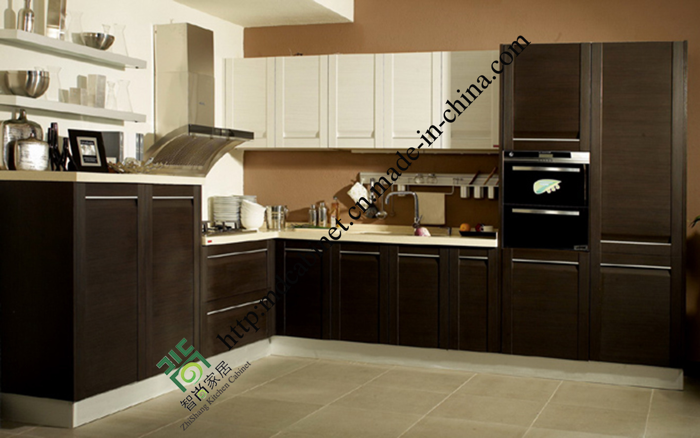 foto de 2016 gabinetes de cocina modernos del pvc de la