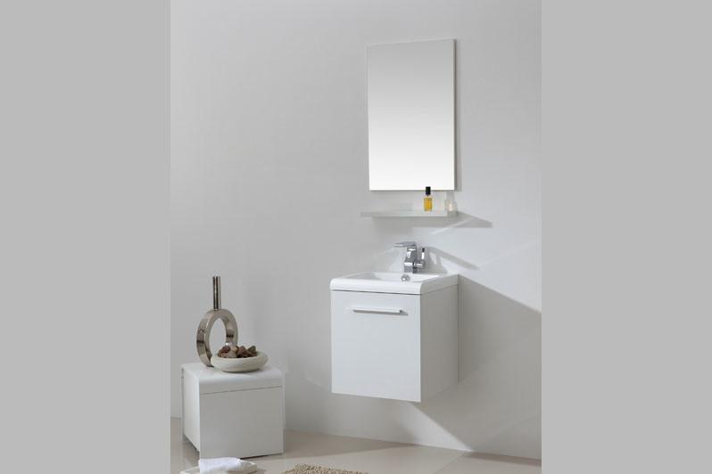 armário de banheiro branco lustroso simples da laca de 600mm –armário de banh -> Armario Banheiro Simples