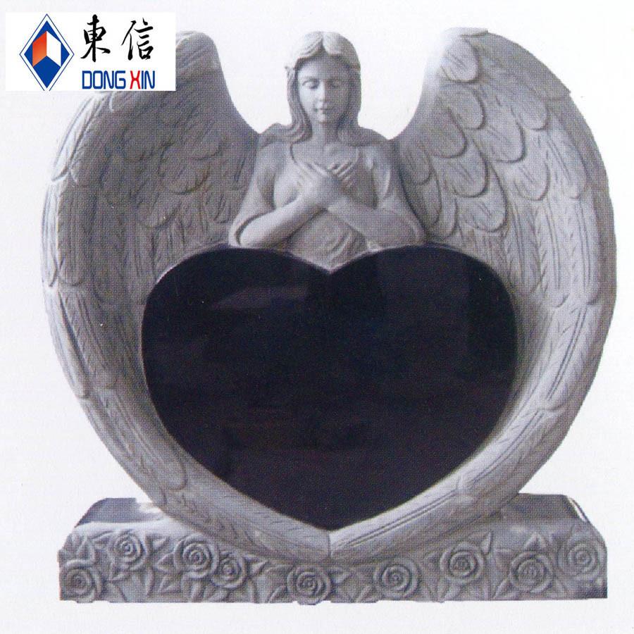De grafsteen van het hart met engel de grafsteen van het for Door het hart van china