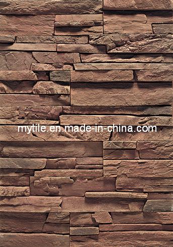 Piedra de piedra artificial de la pared del revestimiento - Placas de piedra artificial ...