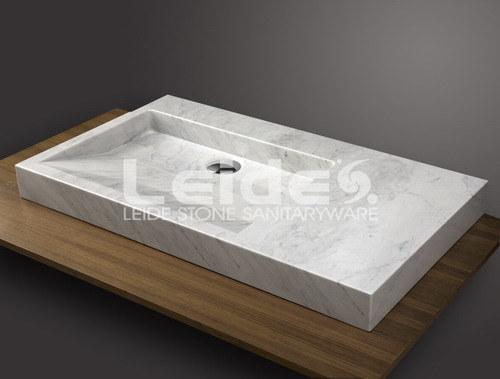 Fregadero rectangular de m rmol blanco de carrara ld b049 - Fregadero de marmol ...