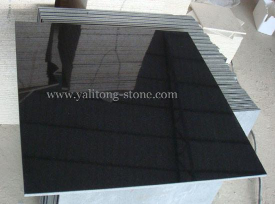 tuiles de granit noir absolu de la chine ylt tile tuiles de granit noir absolu de la. Black Bedroom Furniture Sets. Home Design Ideas