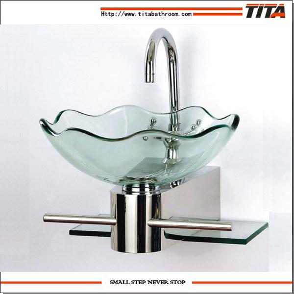 lavabo de vidrio de vidrio de bao lavabo de bao lavamanos de porcelana
