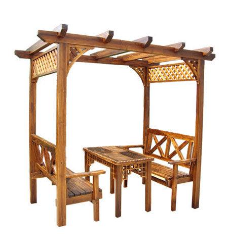 Arco de madera del jard n glf 307 arco de madera del - Arcos de madera para jardin ...