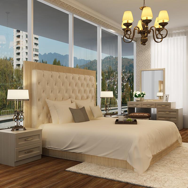Meubles de luxe modernes de chambre coucher d 39 h tel de for Chambre a coucher hotel